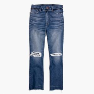 <Madewell> Retro Crop Bootcut Jeans
